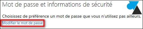 tutoriel changer mot de passe mail Outlook Hotmail