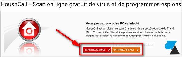 Trend Housecall antivirus gratuit en ligne