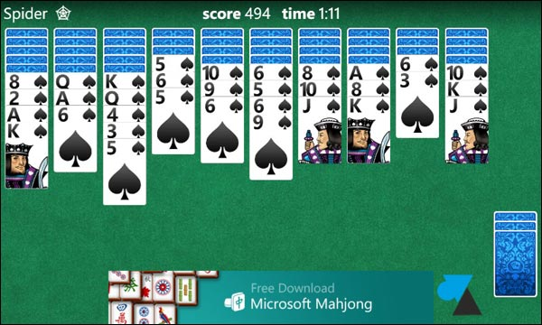 solitaire freecell d mineur et mahjong sur windows phone 8. Black Bedroom Furniture Sets. Home Design Ideas