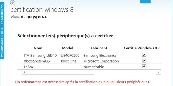 Windows 8 / 8.1 : DLNA et  applications Windows Store