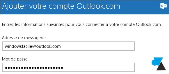 tutoriel configurer Courrier compte Outlook Hotmail Live MSN