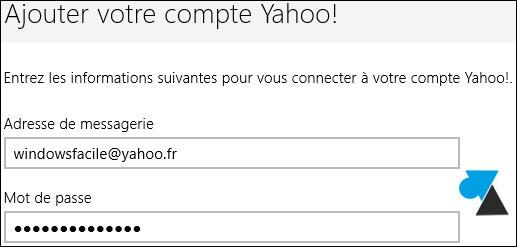 tutoriel configurer Courrier compte Yahoo ymail