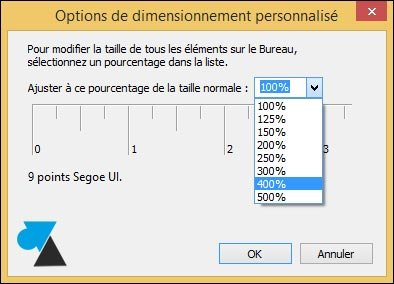zoom agrandir resolution texte Windows plus grand