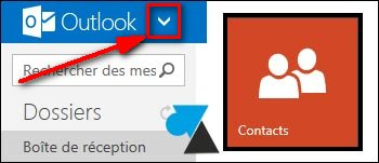 tutoriel Outlook Hotmail exporter contacts