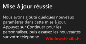 Windows Phone 8.1 : mise à jour terminée