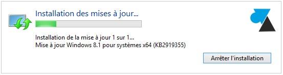 tutoriel installer mise a jour Windows 8.1 update 1