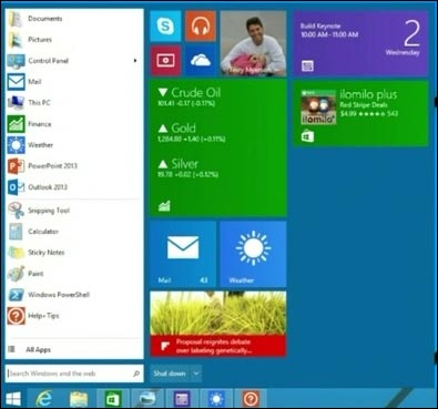 Windows 8.1 update 1 menu demarrer