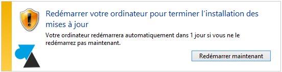 tutoriel installer mise a jour Windows 8.1 update 1 redemarrage