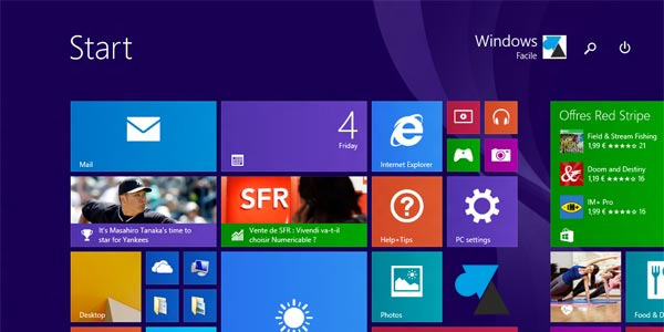 Windows 8.1 update 1 ecran accueil