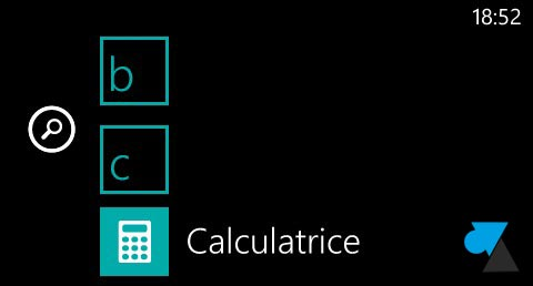 Nokia Lumia Windows Phone 8 calculatrice scientifique