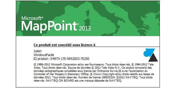 W8F tutoriel Microsoft MapPoint 2013 Europe