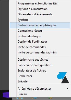 gestionnaire de peripheriques Windows