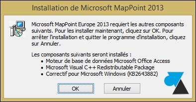 tutoriel installer Microsoft MapPoint 2013 Europe