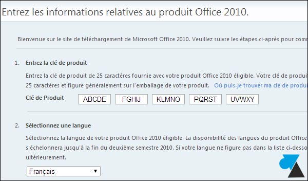 T l charger office 2010 licence carte d 39 activation - Office professionnel 2010 ...