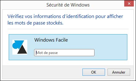 tutoriel afficher mot de passe enregistre Windows Internet Explorer