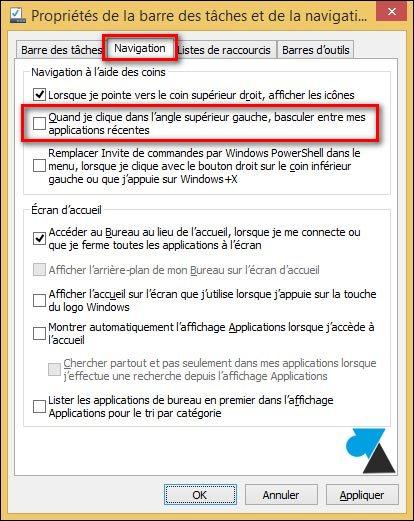 tutoriel desactiver barre applications recentes Windows