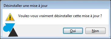 tutoriel desinstaller mise à jour update Windows