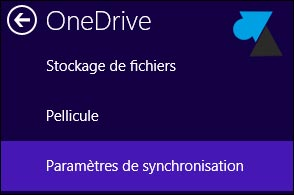tutoriel parametres OneDrive Windows 8.1