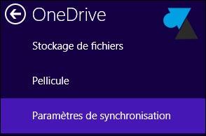 tutoriel parametres OneDrive Windows 8.1