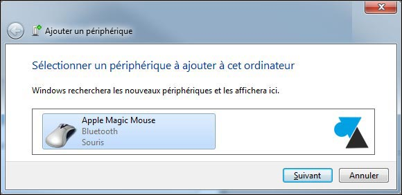 tutoriel installer souris Apple Magic Mouse sur Windows