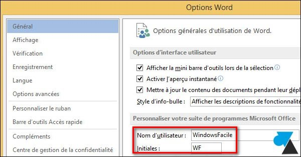 tutoriel Office 2013 changer proprietaire document