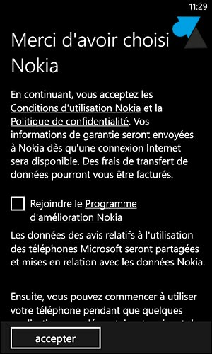 Nokia Lumia premier demarrage Windows Phone