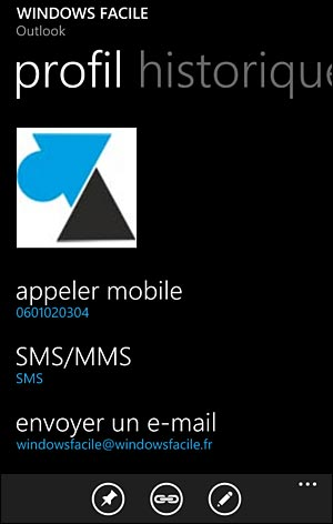 tutoriel Windows Phonr ajouter nouveau contact Nokia Lumia