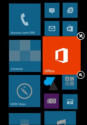 Nokia Lumia Windows Phone configurer taille icone ecran accueil
