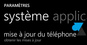 Nokia Lumia Windows Phone 8 telecharger mise a jour systeme
