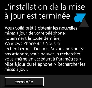 Nokia Lumia Windows Phone 8.1 telecharger mise a jour systeme
