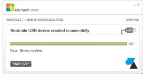 tutoriel creer cle usb installation Windows 10 ISO