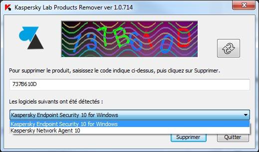 Kaspersky utilitaire kav remover desinstaller antivirus
