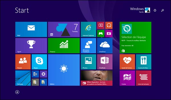 Windows 10 ecran accueil