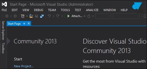 tutoriel Visual Studio Community 2013 couleur dark
