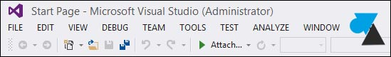 tutoriel Visual Studio 2013 menu majuscule