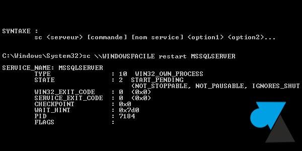 service commande sc
