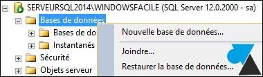 tutoriel SQL Server 2014 nouvelle base de donnees