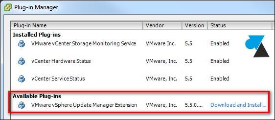 tutoriel VMware ESXi vSphere Update Manager