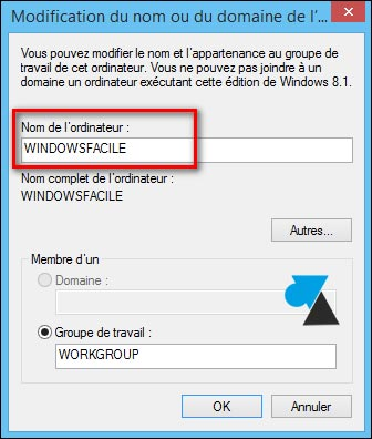 tutoriel Windows changer nom PC ordinateur