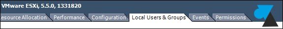 tutoriel VMware ESXi vSphere user groupe login