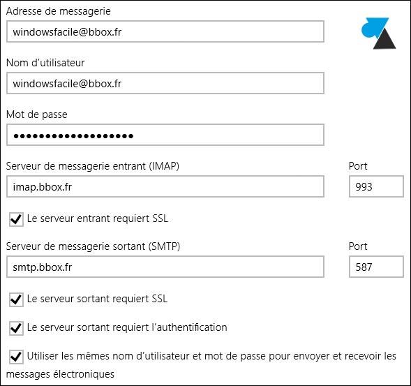 tutoriel configurer courrier adresse mail bbox bouygues