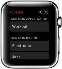 tutoriel montre connectee Apple Watch musique