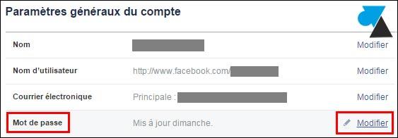 tutoriel Facebook changer mot de passe