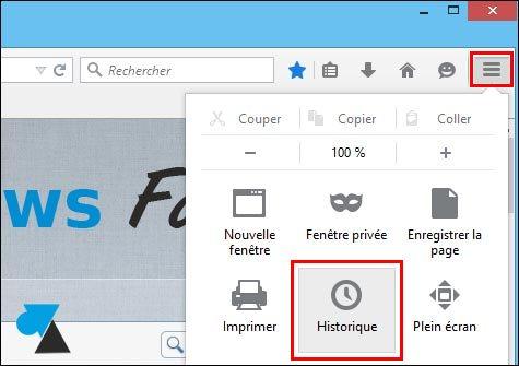 tutoriel vider supprimer historique navigation internet Mozilla Firefox