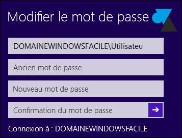 tutoriel changer mot de passe domaine Windows 8 8.1