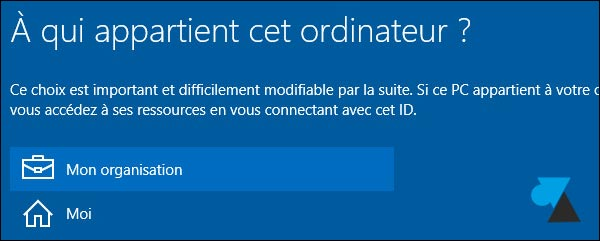 tutoriel Windows 10 joindre domaine Active Directory