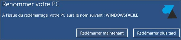 Windows 10 tutoriel changer nom PC ordinateur