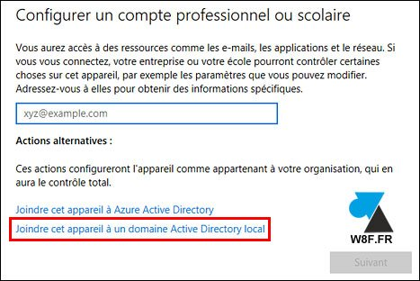 tutoriel joindre domaine Windows 10 Creators Update