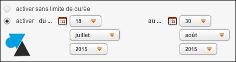 tutoriel webmail Orange message absence vacances
