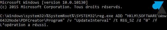 tutoriel pdfcreator desactiver mise a jour logiciel commande cmd